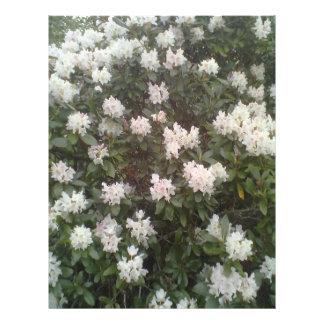 White flower plant flyer