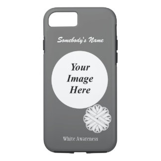 White Flower Ribbon Template by Kenneth Yoncich iPhone 7 Case