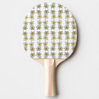 white flower table tennis bat