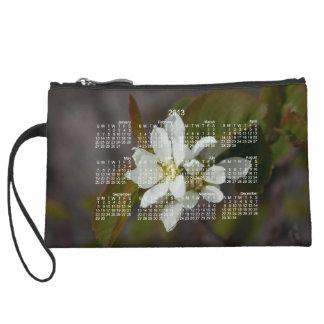 White Flower with Ant; 2013 Calendar Wristlet Purses
