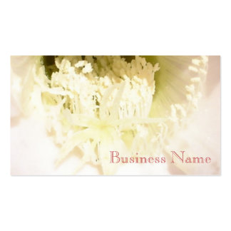 White flower with text business cards
