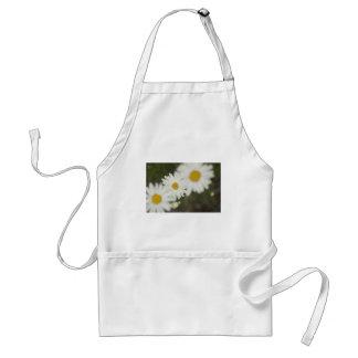White Floweres Adult Apron