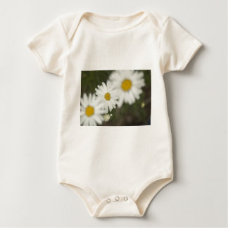 White Floweres Baby Bodysuits