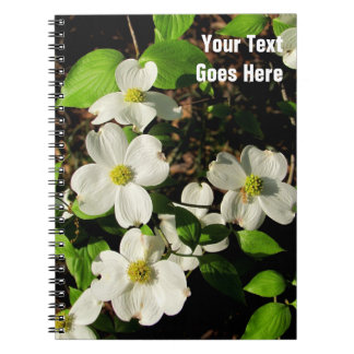 White Flowering Dogwood Blossom Notebook