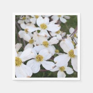 White Flowering Dogwood Flowers Paper Napkins