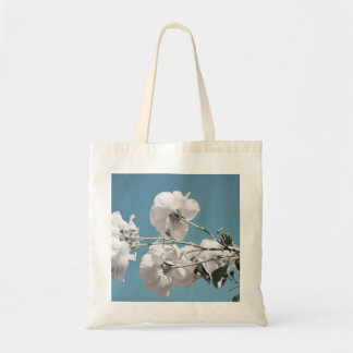 White Flowers and Blue Sky Canvas Bag