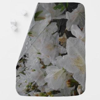WHITE FLOWERS baby blanket