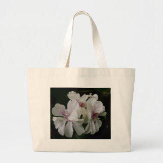 White Flowers Canvas Bag