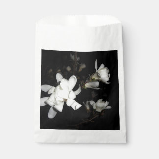 White Flowers Black Background Jasmine Flower Moon Favour Bags