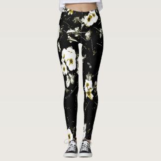 white flowers black leggings