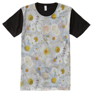 White Flowers Bouquet Floral Wedding Bridal Spring All-Over Print T-Shirt