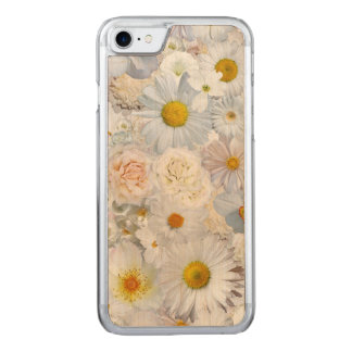 White Flowers Bouquet Floral Wedding Bridal Spring Carved iPhone 7 Case