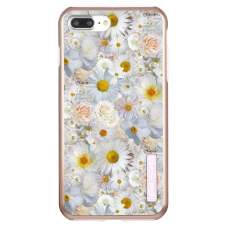 White Flowers Bouquet Floral Wedding Bridal Spring Incipio DualPro Shine iPhone 8 Plus/7 Plus Case