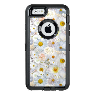 White Flowers Bouquet Floral Wedding Bridal Spring OtterBox Defender iPhone Case