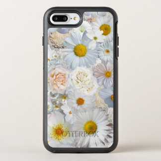 White Flowers Bouquet Floral Wedding Bridal Spring OtterBox Symmetry iPhone 7 Plus Case