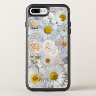 White Flowers Bouquet Floral Wedding Bridal Spring OtterBox Symmetry iPhone 8 Plus/7 Plus Case