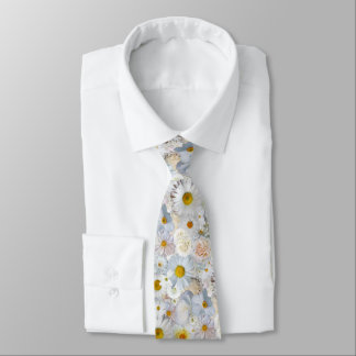 White Flowers Bouquet Floral Wedding Bridal Spring Tie