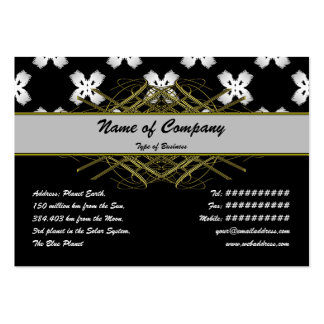White Flowers Business Cards