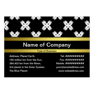 White Flowers Business Card Template