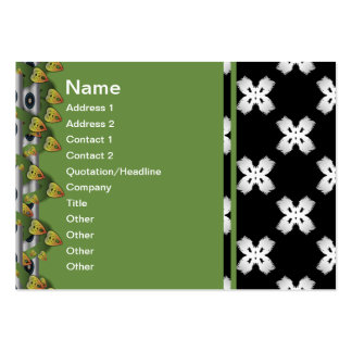 White Flowers Business Card Templates