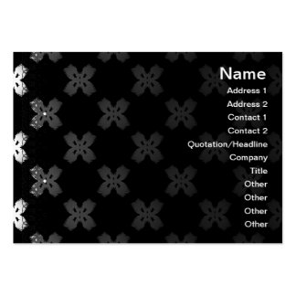 White Flowers Business Card
