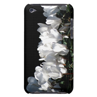 White Flowers Barely There iPod Cover