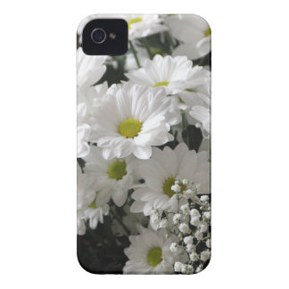 White Flowers Case-Mate iPhone 4 Case