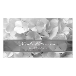 white flowers - Event Producer Pack Of Standard Business Cards
