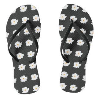 White-Flowers-Floral(c) Unisex_Multi-Sizes Thongs