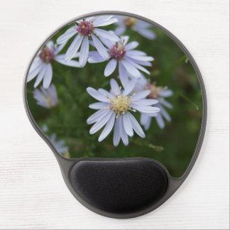 White Flowers Gel Mousepad