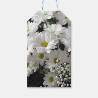 White Flowers Gift Tags