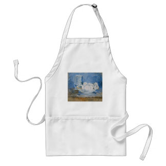 White Flowers in A Bowl Apron