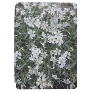 White flowers iPad air cover