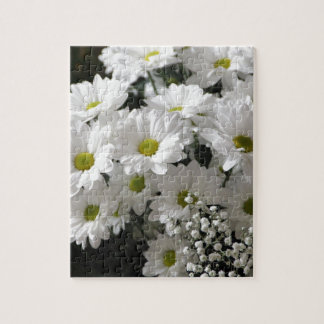 White Flowers Jigsaw Puzzle