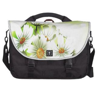 White Flowers Bag For Laptop