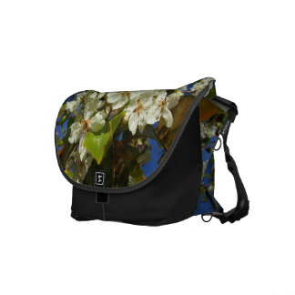 White Flowers Commuter Bags
