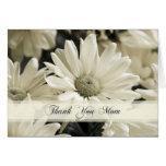 White Flowers Mum Wedding Day Thank You Card