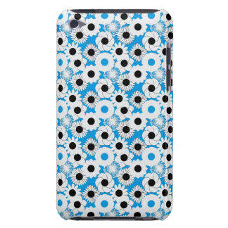 White Flowers on a Light Blue Background iPod Touch Cover