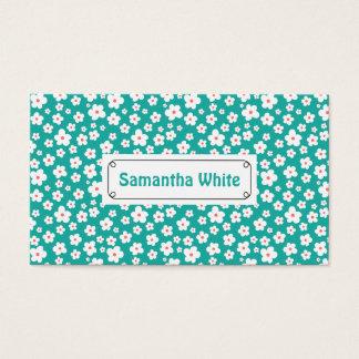 White flowers on custom color