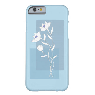 white flowers on the blue barely there iPhone 6 case