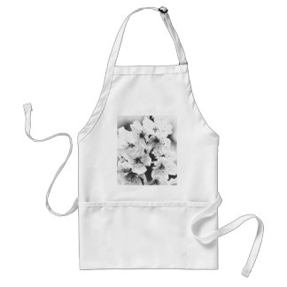 white flowers on the branches in spring standard apron