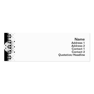 White Flowers Pack Of Skinny Business Cards