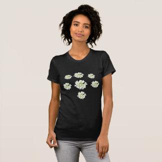 White Flowers Pattern Cust. Women's T-Shirt