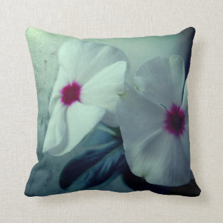 White Flowers Photo  Throw Cushion 41 cm x 41 cm