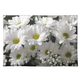 White Flowers Placemat