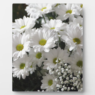White Flowers Plaque