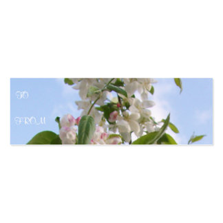 White Flowers Profile Card Business Cards