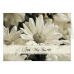 White Flowers Sister Maid of Honour Invitation Card