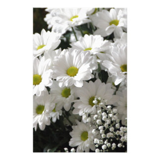 White Flowers Stationery