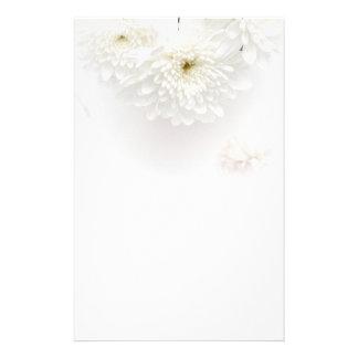 White Flowers Stationery